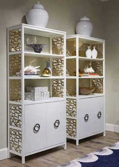 Stanley Furniture Havana Crossing Finca White 36''W x 14''D Promenade Bookcase