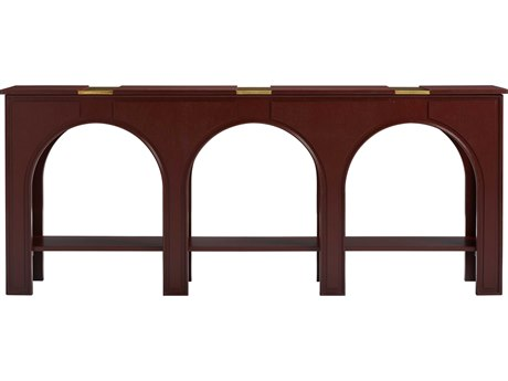Stanley Furniture Havana Crossing Masonic Red 80''L x 14''W Rectangular Portico Console