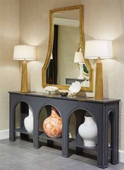 Stanley Furniture Havana Crossing Indigo Blue Portico Console & Mirror Set