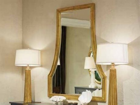 Stanley Furniture Havana Crossing Oro Oscuro Gold Leaf 42''W x 50''H Ventana Dresser Mirror