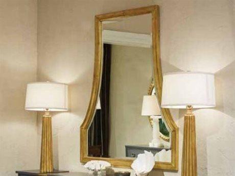 Stanley Furniture Havana Crossing Oro Oscuro Gold Leaf 42''W x 50''H Ventana Dresser Mirror