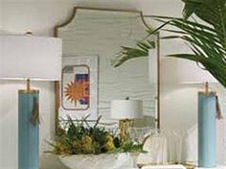 Stanley Furniture Havana Crossing Murcielago Brass 30''W x 39''H Rectangular Five Eleven Wall Mirror