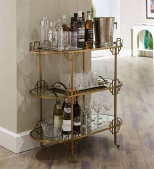 Stanley Furniture Havana Crossing Murcielago Brass La Cuna Bar Cart