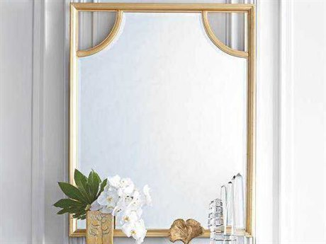 Stanley Furniture Virage Antique Gold Leaf 38''W x 47''H Rectangular Portrait Wall Mirror