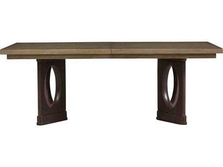 Stanley Furniture Virage Basalt 82''L x 46''W Rectangular Double Pedestal Dining Table