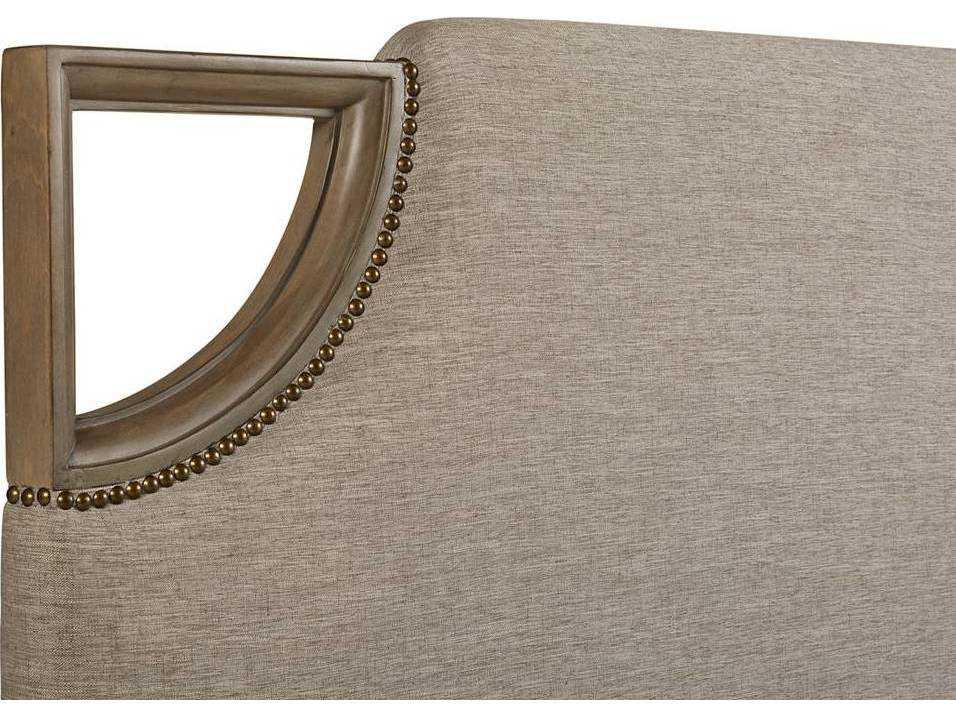 Stanley Furniture Virage Basalt Queen Size Upholstered Bed