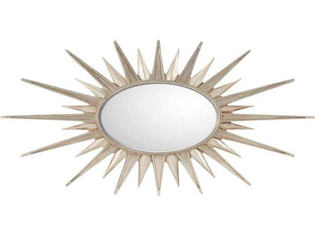 Stanley Furniture Virage Antique Silver Leaf 61.5''W x 31''H Sunburst Accent Wall Mirror