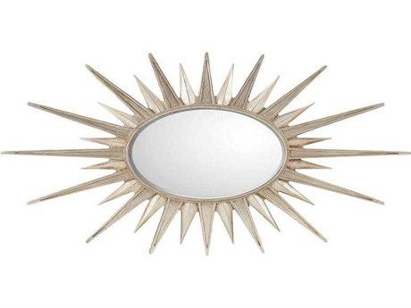 Stanley Furniture Virage Antique Silver Leaf 61.5''W x 31''H Sunburst Accent Wall Mirror