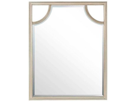 Stanley Furniture Virage Antique Silver Leaf 38''W x 47''H Rectangular Portrait Wall Mirror