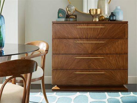 Stanley Furniture Panavista Goldenrod 44''W x 21''D Four-Drawer Madagascar Media Chest