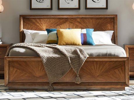 Stanley Furniture Panavista Goldenrod King Panorama Panel Bed