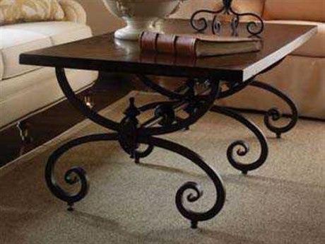 Stanley Furniture Costa Del Sol Cordova 65'' x 30'' Rectangular Conquistador Bench Table
