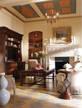 Stanley Furniture Costa Del Sol Cordova 61'' x 44'' Rectangular Sottotesto Passage Table