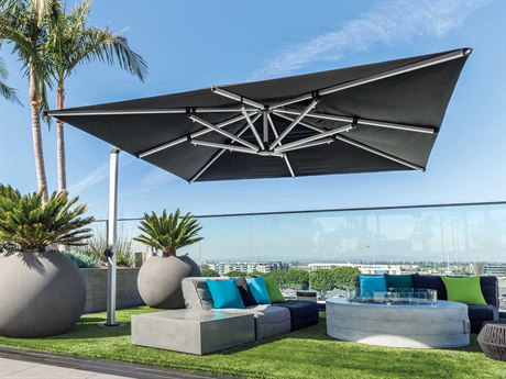 Shademaker Galaxy Aluminum 13'1 Crank Lift Square Umbrella