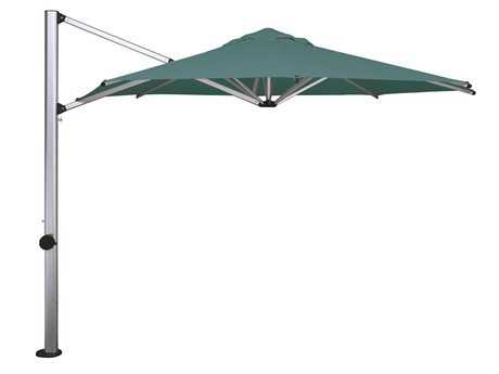 Shademaker Sirius Aluminum 9'9 Square Crank Lift Offset Umbrella PatioLiving