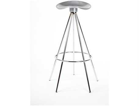 Stilnovo Tractor Silver Bar Stool