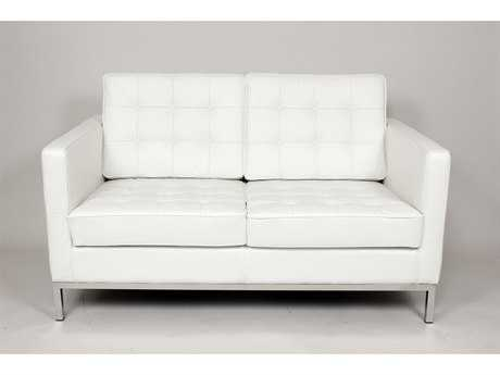 Stilnovo Draper White Loveseat