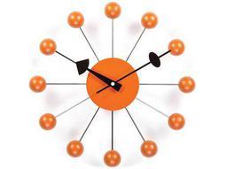 Stilnovo George Nelson By Verichron Ball Orange Wall Clock