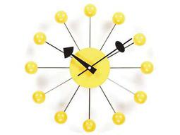 Stilnovo George Nelson By Verichron Ball Yellow Wall Clock
