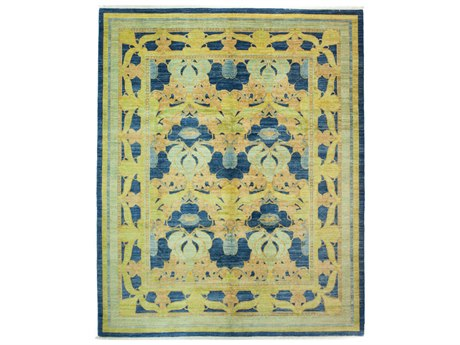Solo Rugs Arts & Crafts Blue 8'2'' x 9'10'' Rectangular Area Rug