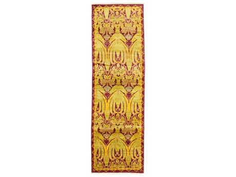 Solo Rugs Arts & Crafts Yellow 2'6'' x 8'3'' Runner Rug