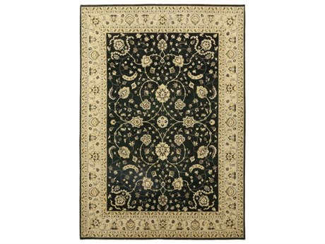 Solo Rugs Oushak Black 10'2'' x 14'5'' Rectangular Area Rug