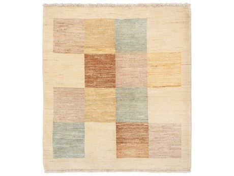 Solo Rugs Gabbeh Ivory 3'3'' x 3'6'' Square Area Rug