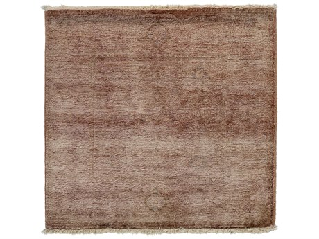 Solo Rugs Vibrance Brown 3' x 3'2'' Square Area Rug