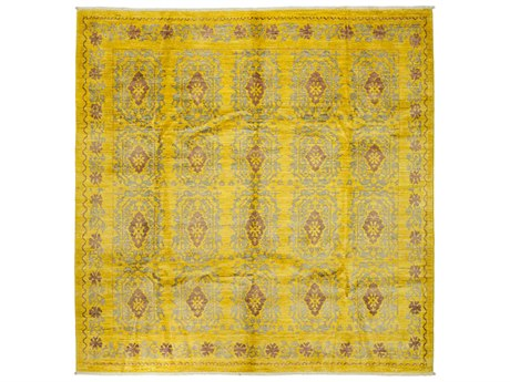 Solo Rugs Eclectic Yellow 8'2'' x 8'2'' Square Area Rug