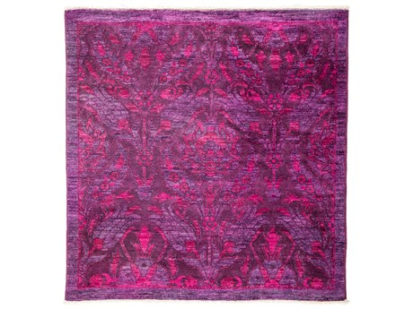 Solo Rugs Vibrance Pink 4'1'' x 4'2'' Square Area Rug