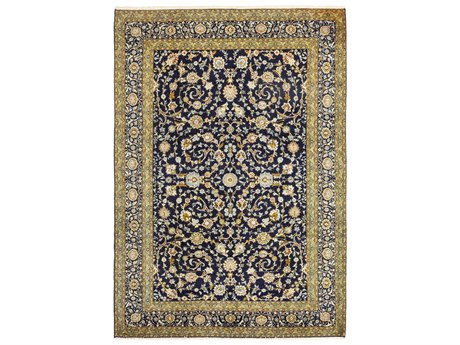 Solo Rugs Kashan Blue 10'2'' x 14'6'' Rectangular Area Rug