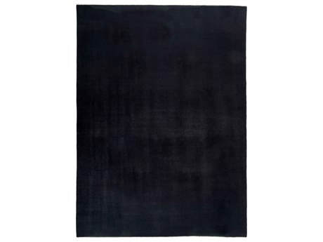 Solo Rugs Solids Black 8'10'' x 12'2'' Rectangular Area Rug