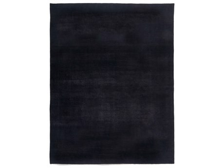 Solo Rugs Solids Black 8' x 10'3'' Rectangular Area Rug