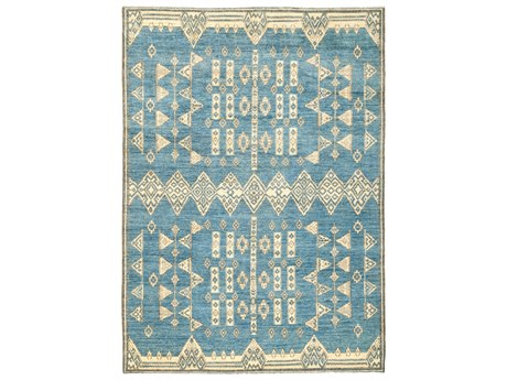 Solo Rugs African Blue 6'3'' x 8'8'' Rectangular Area Rug