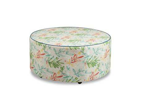 South Sea Rattan Round Cocktail Ottoman