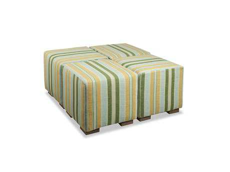 South Sea Rattan Small Square Cocktail Ottoman