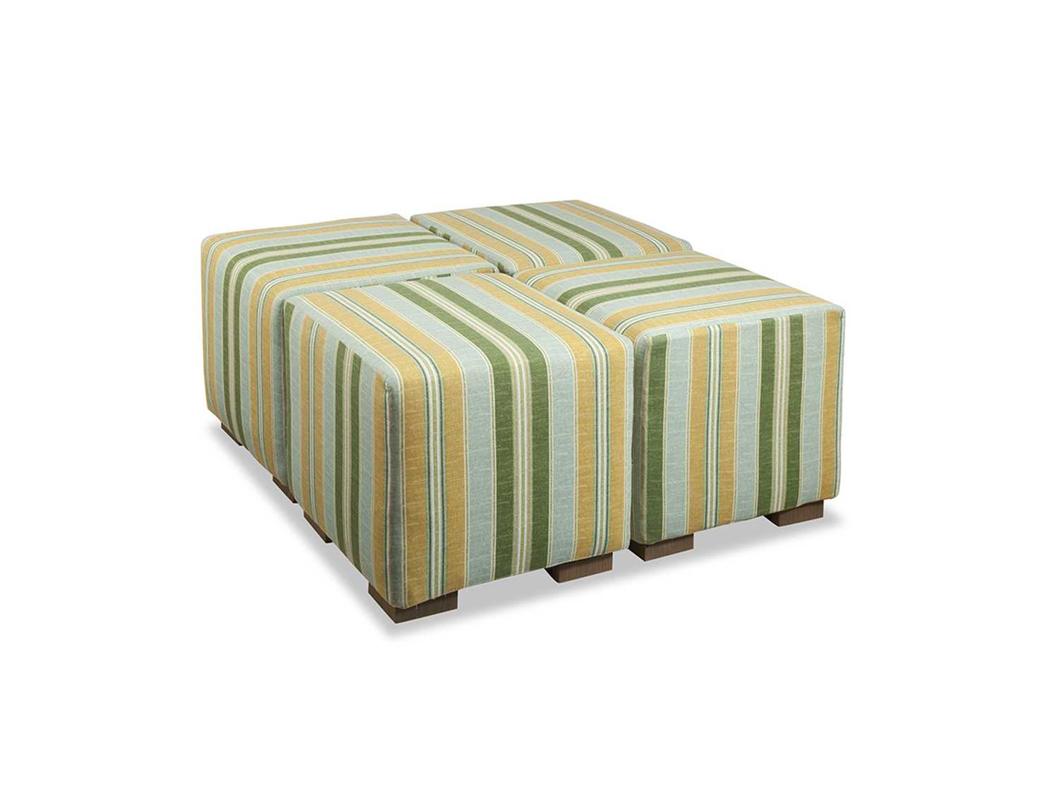 South Sea Rattan Small Square Cocktail Ottoman Sr72093