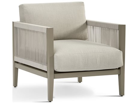 South Sea Rattan Nicole Aluminum Greystone Lounge Chair
