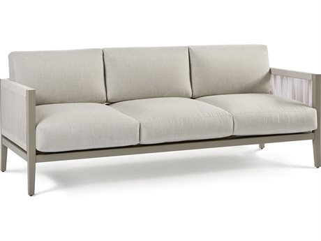 South Sea Rattan Nicole Greystone Aluminum Cushion Sofa