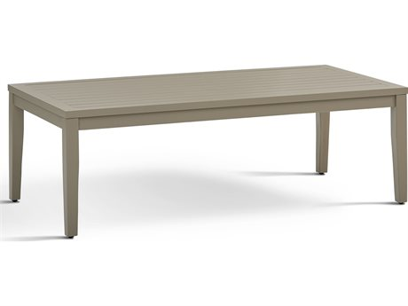 South Sea Rattan Nicole 52'' Wide Aluminum Rectangular Coffee Table