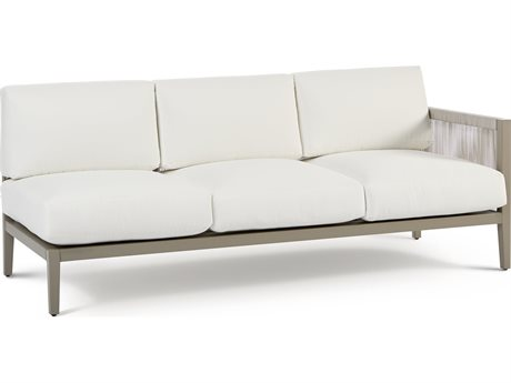 South Sea Rattan Nicole Aluminum Greystone Right Arm Sofa