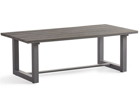 South Sea Rattan Kingston 48'' Wide Aluminum Rectangular Coffee Table