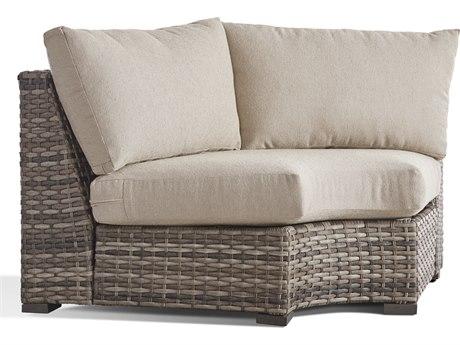 South Sea Rattan New Java Sandstone Wicker Cushion Lounge Chair