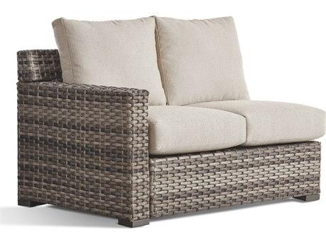 South Sea Rattan New Java Sandstone Wicker Cushion Loveseat