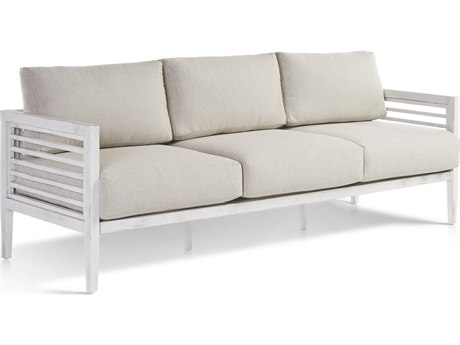 South Sea Rattan Veda Aluminum Soft White Sofa