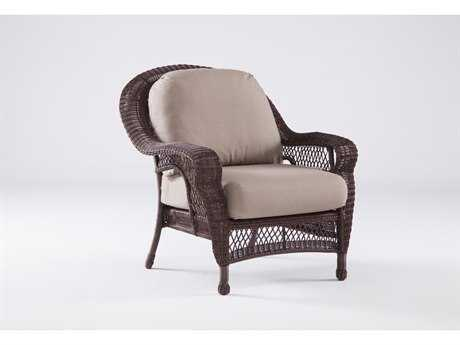 South Sea Rattan Montego Bay Wicker Cushion Arm Lounge Chair