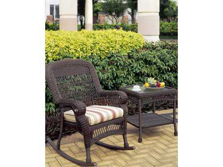 South Sea Rattan Montego Bay Wicker Cushion Arm Rocker Lounge Chair