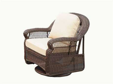 South Sea Rattan Montego Bay Wicker Cushion Swivel Glider