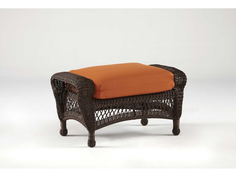 South Sea Rattan Montego Bay Wicker Cushion Ottoman 75106