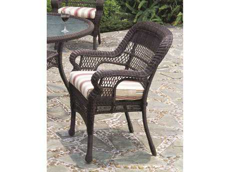 South Sea Rattan Montego Bay Wicker Cushion Arm Dining Chair